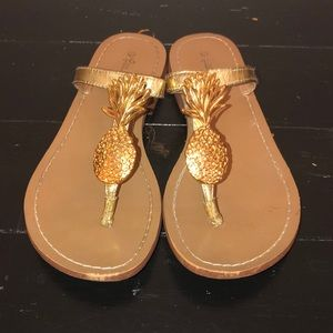 Lily Pulitzer Pineapple Sandals
